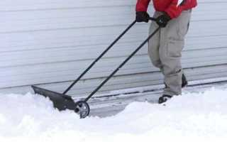 Как сделать скребок для снега своими руками: виды чистящих средств, самодельные