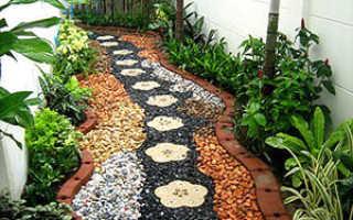 Садовые дорожки: виды, характеристики, варианты оформления, фото, этапы укладки