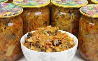 Сбор грибов с капустой на зиму – 5 рецептов готовых к употреблению